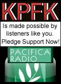 KPFK Pledge Button
