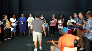 """Sing It"" rehearsal"
