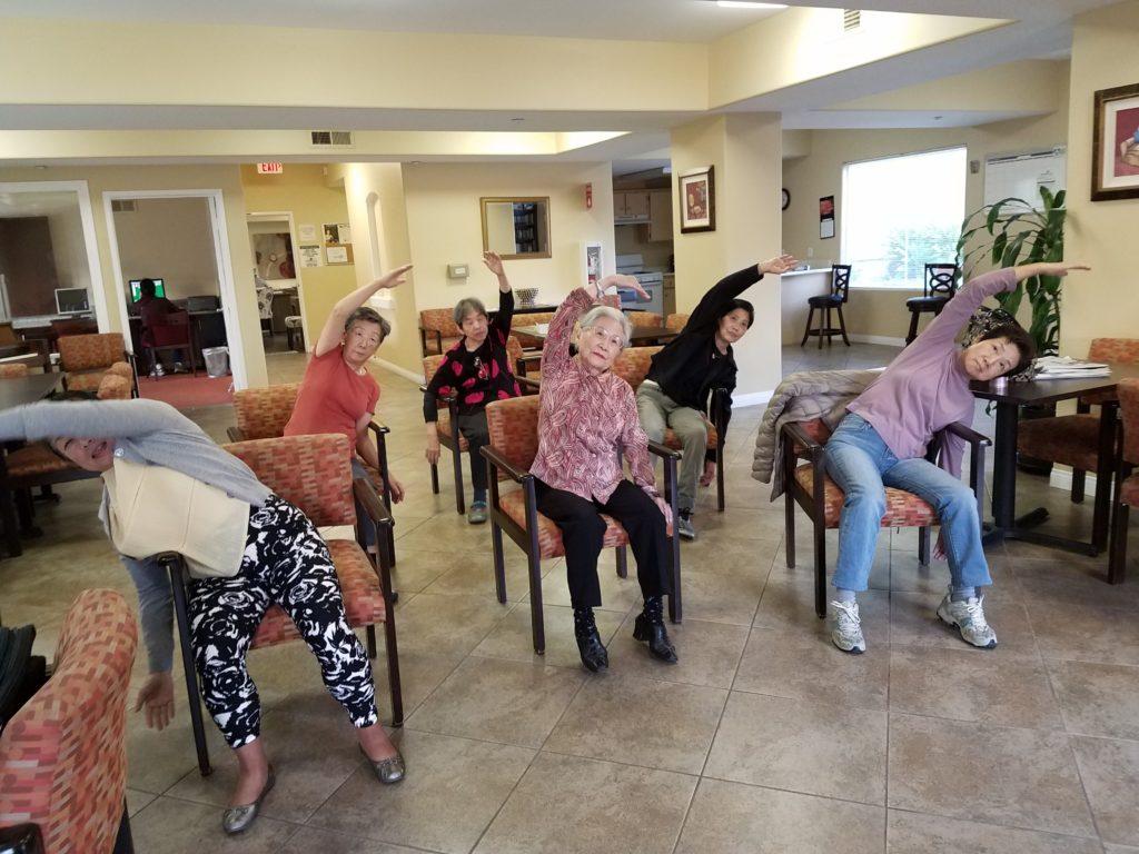 Yoga class at Portofino Villas in Pomona, CA