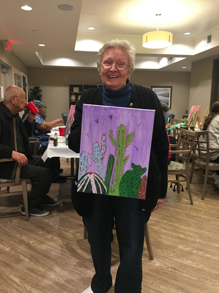 EngAGE art class at Olivera Senior Apartments in Pomona, CA